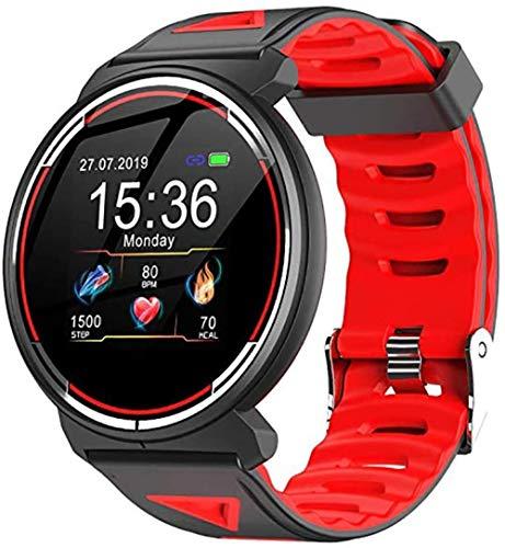 hwbq Reloj Inteligente Táctil Completo Monitor de Frecuencia Cardíaca Deportes Salud Monitor de Sueño IP68 Impermeable Pulsera Deportiva B