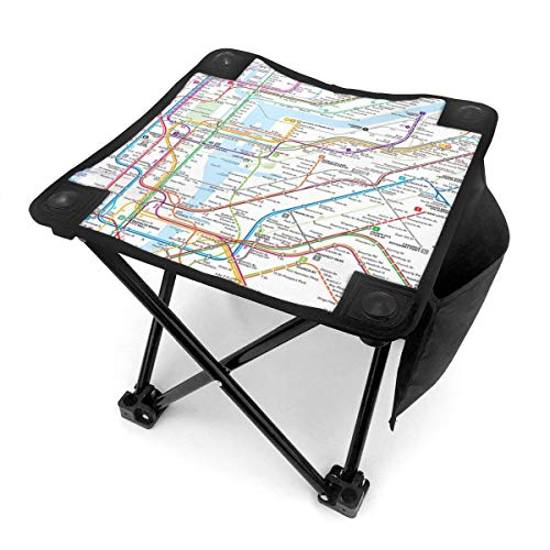 End Nazi Camping Hocker Klappstühle New York Subway Map Tragbarer Stuhl Sitz