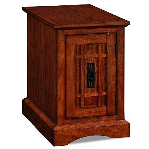 Leick Home Office End Table, Mission Oak