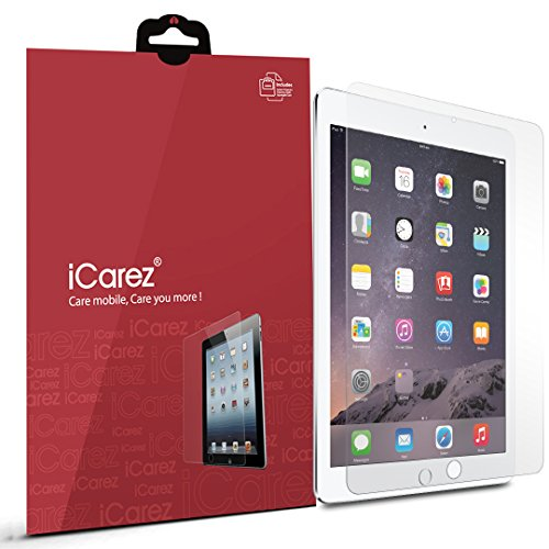 iCarez Anti-Glare/Anti-Fingerprint Screen Protector for New iPad 9.7 Inch (2018/2017) /iPad Pro 9.7 Inch/iPad Air 2 / iPad Air (2 Pack) Matte - Retail Packaging