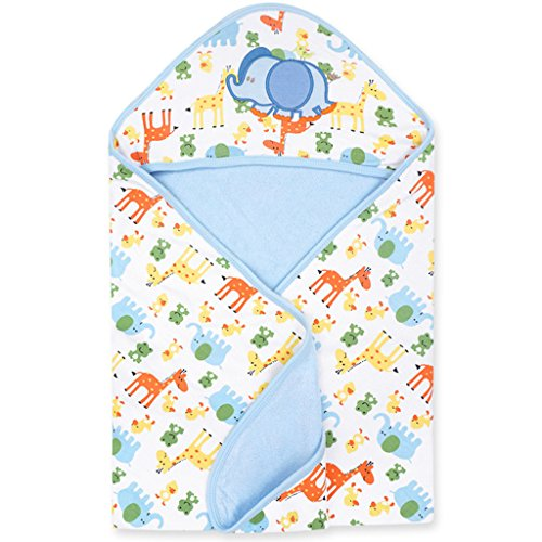 Couverture de bébé avec Capuche Ultra Douce Couverture Bébé d'Emmaillotage Coton Gigoteuse d'emmaillotage (80 x 80 cm)