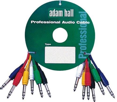 Adam Hall Audiokabel / Patchkabel, 6,3mm-Klinkenstecker (große Klinke), 0,6m, 6 Stück
