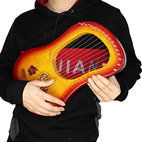 YAYADU-Foam Puzzle Mat 15 Saite Harfe, Metallschnur, Ahornbretter, Streichinstrumente, Mit Tasche Stimmschlüssel Putztuch Für Anfänger, Freund, Geschenke Für Paare (Color : Brown, Size : 40x25x3.5cm)
