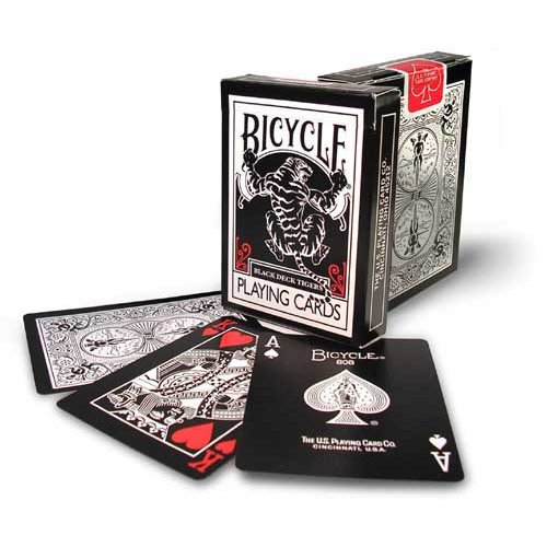 Juego de cartas BLACK TIGERS DECK RED - BICYCLE