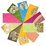 PARTH IMPEX Shagun Gift Envelope (Pack of 10) Assorted Color Designs Money Holder Fancy Packet for Christmas Diwali Easter Birthday Wedding Anniversary Designer Invitation Envelopes