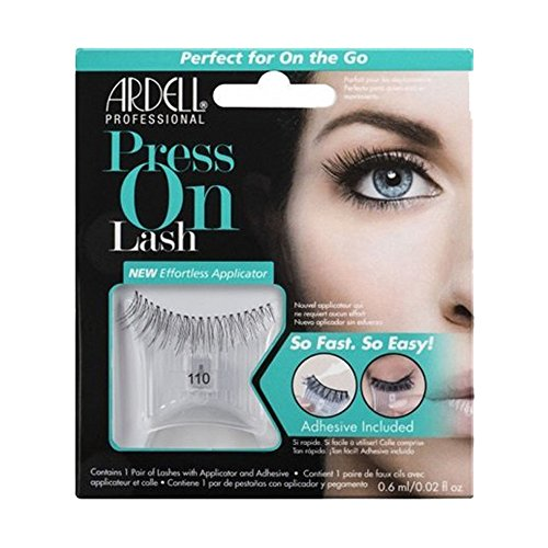 ARDELL Press On Lash with Adhesive Pipette 110 Black Faux-cils