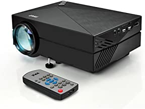 Pyle Mini Video Projector 1080p Full HD Multimedia LED Cinema System for Home Theater,..