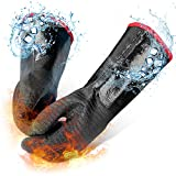 Grill N Gear Extreme Heat Resistant BBQ Grill Gloves Mitts 932℉ – Neoprene Coating, Waterproof, Fireproof, Oil Resistant – High Temperature Smoker, Barbecue Cooking, Oven, Fryer, Grilling (18 Inches)