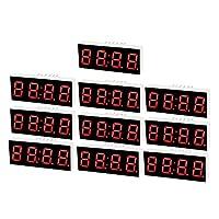uxcell LEDデジタル表示管 12ピン 4ビット 7セグメント 40 x 16 x 7mm 10個入り