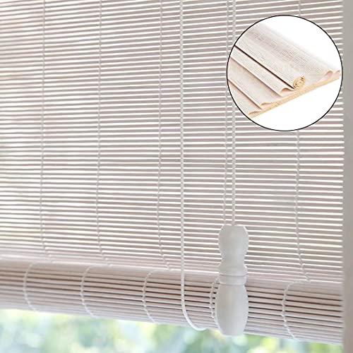 HAOQI Medidas de estores de bambú Cortina de Madera persiana Enrollable,140x240cm/55x95in