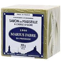 Le savon de Marseille vert Marius Fabre Il est cuit en chaudron dans la savonnerie Marius Fabre. cube 400 gr