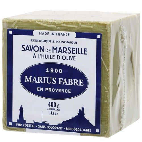 Marius Fabre - Sapone di Marsiglia all'olio d'oliva, cubo da 400g, Unité