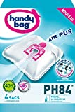 Handy Bag - PH84 - 4 Sacs Aspirateurs, pour Aspirateurs Philips et LG/Goldstar,...
