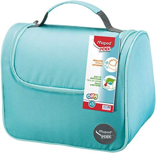 Maped Picnik Origins - Lunch bag Sac à Déjeuner Isotherme pour Enfants avec Anse de Transport - Facile à nettoyer - Turquoise