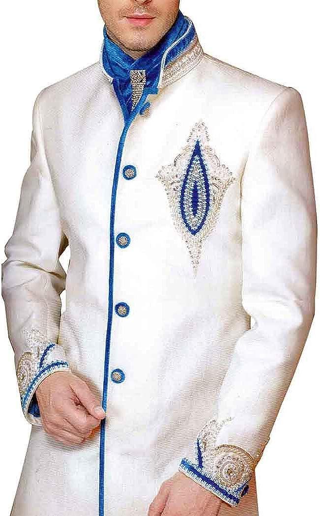 INMONARCH Mens Sherwani Cream Indo Western Kurta for Jeans INA8106