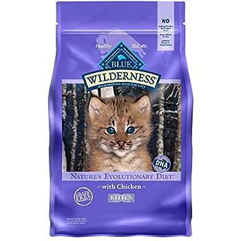 Blue Buffalo Wilderness High Protein Natural Kitten Dry Cat Food Chicken 5-Lb