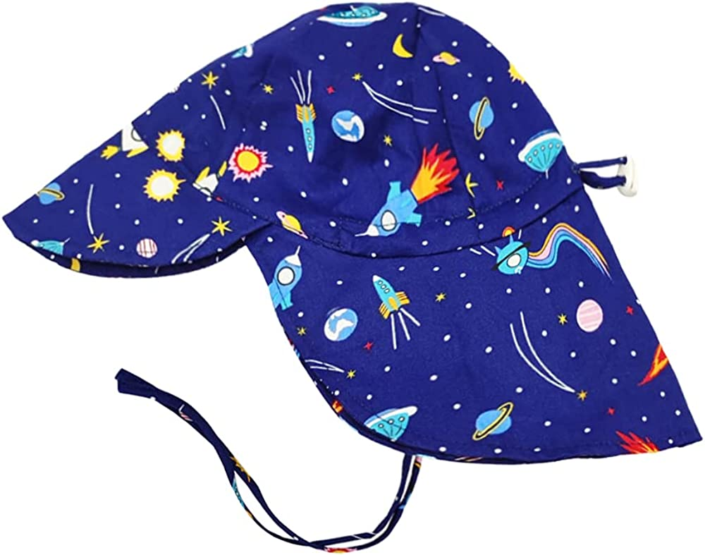 Acapeting Baby Sun Hat 100% Cotton UPF 50+ Sun Protection Toddler Sun Adjustable Hats for Boy and Girl in Summer Beach