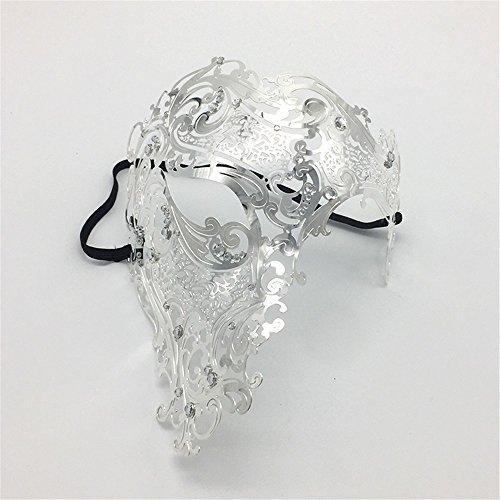 Máscara Veneciana Metal Prom Mascarilla Facial Solo