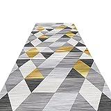CHYY Alfombra Pasillo Alfombrillas de Pasillo de Empalme de Geometría Contemporánea, para La Entrada Al Gimnasio, Sala de Juegos, 300 cm / 400 cm / 500 cm / 600 cm / 700 cm / 800 cm de Largo