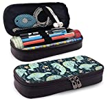 Manatee Pattern Estuche Case Zipper Bag Stationery Pouch Holder Box Organizer for Middle High School Office College
