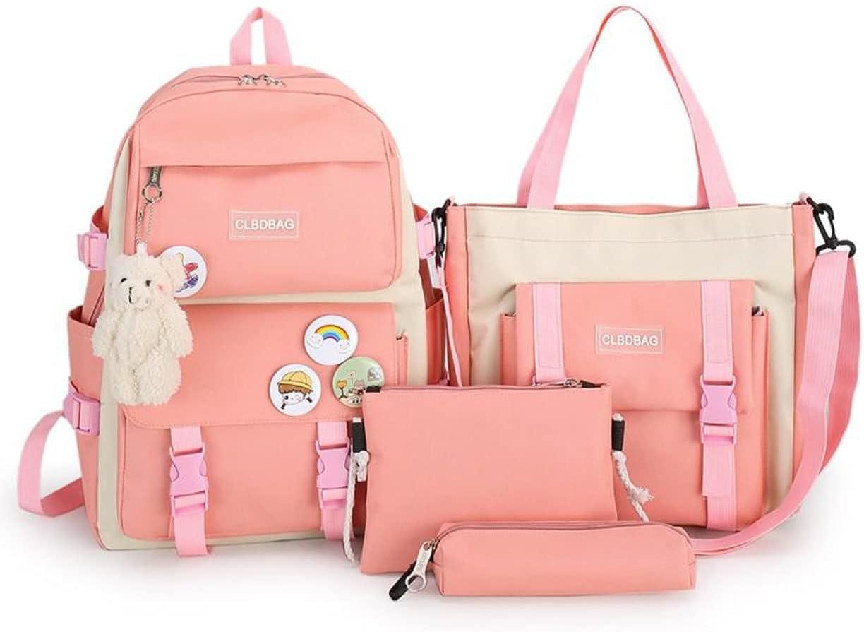 4pcs School Bags Set Kawaii Backpacks Back for Max 44% OFF Girls Sales Teen