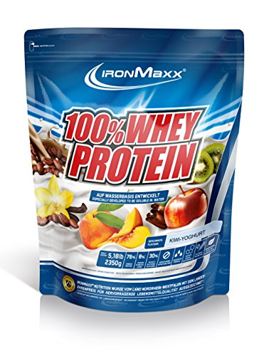IronMaxx Ironmaxx Sabor Yogurt De Kiwi 100% Polvo Proteína De Suero 2.35 Kg En Bolsa 2350 g