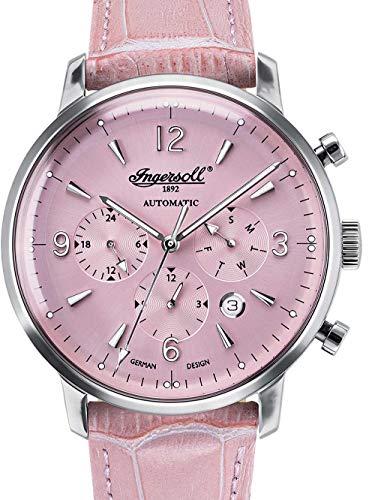 Ingersoll Damen Analog Automatik Uhr mit Leder Armband IN1712PI