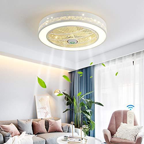 HYQJUNE Iluminación LED Moderna Ventilador De Techo Luz De Techo Velocidad del Viento Control Remoto Regulable Ventilador Silencioso Luz De Techo Sala De Estar Dormitorio Araña
