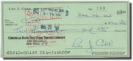 LEE J. Award COBB The Virginian Bank Check Note Signed - Ranking TOP7