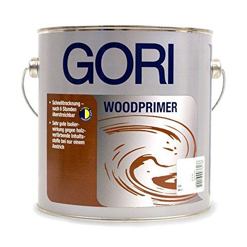 Preisvergleich Produktbild 2, 5L GORI 4648 Woodprimer 800 Weiß Isoliergrund Sperrgrund Grundierung