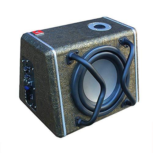 LIDAUTO Subwoofer Coche 12 V Altavoz Audio Coche Sub