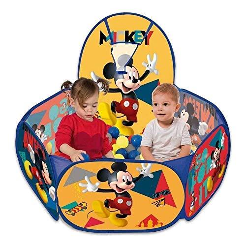 Piscina de Bolinha Mickey Disney C/ Cesta 100 Bolinhas Zippy