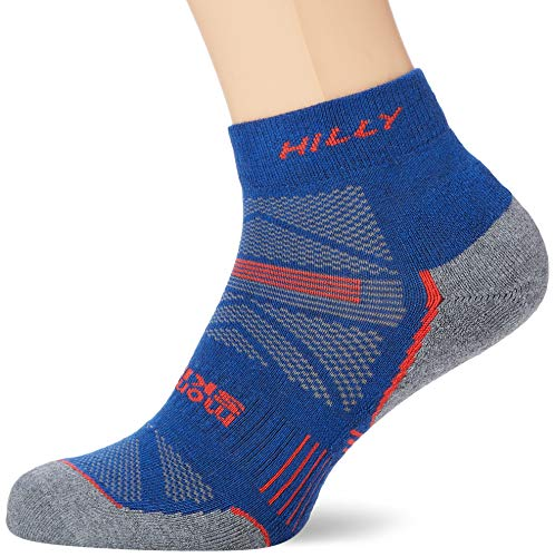 Hilly Supreme Herren-Fußkettchen-Socken L Denim/Grau meliert