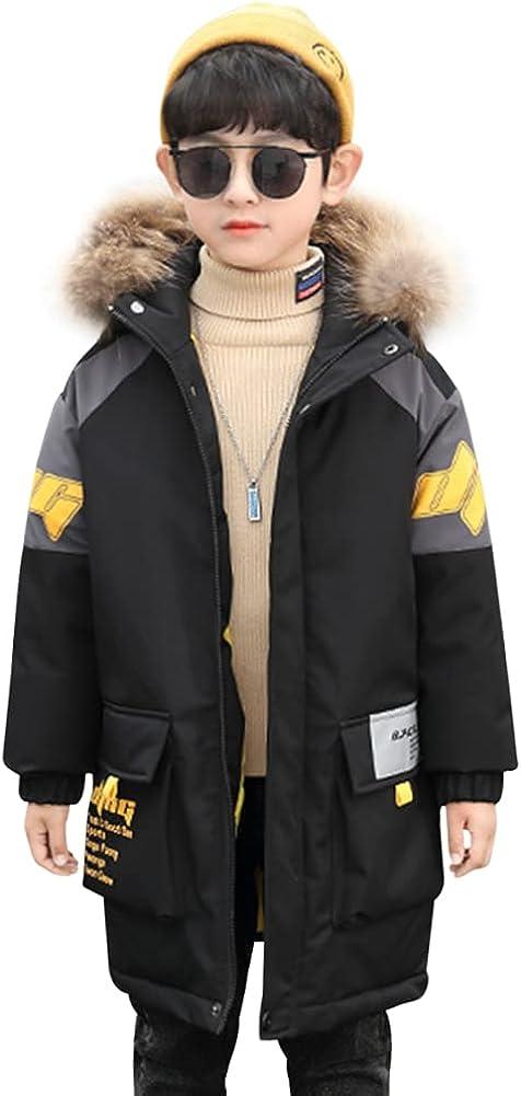 LSPAR Boys Winter Coats Down Jacket Hooded Snowsuit Parka Windproof Overcoat Outerwear Jacket