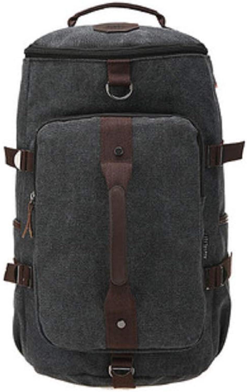 Litnretk Weitermachen Ruckscke, Herren Vintage Reiserucksack Rucksack Outdoor Reisen Reisetasche Rucksack Classic Travel Multifunktionstaschen 3-in-1,schwarz