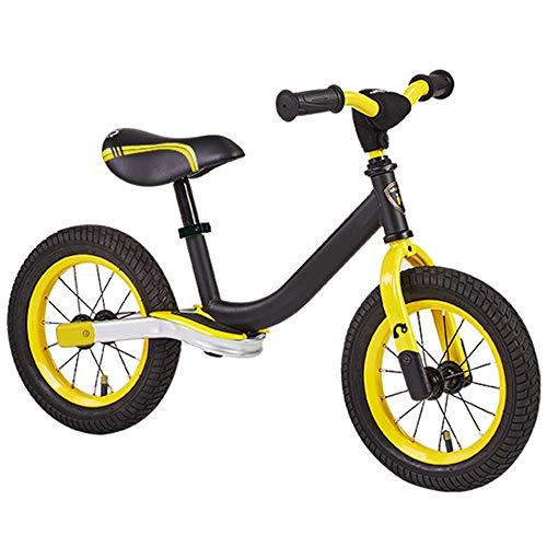 WOHCO Bicicleta Safe Balance para niños y niñas, Marco de Acero al Carbono sin Pedales Bicicleta de Entrenamiento con Asiento Ajustable, para niños de 2 a 6 años y niños pequeños