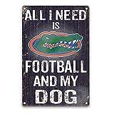 YOMIA Football Team Sign for Florida Gators, Bar Pub Club Garage Metal Poster Tin Signs 8 X 12 Inches