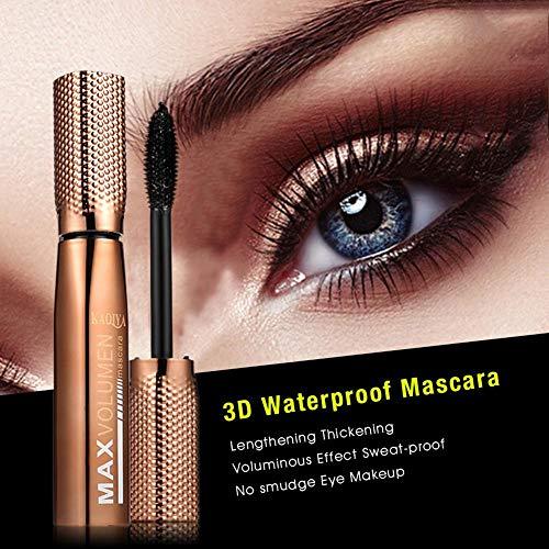 Rímel 3D Resistente al Agua - rímel engrosador - rímel buxom - Alargamiento Efecto voluminoso A Prueba de Sudor Sin Manchas Maquillaje de Ojos