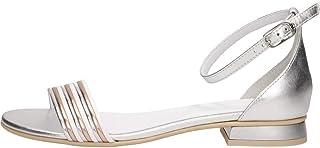 Sandalo da Donna NeroGiardini in Pelle Argento E012500D. Scarpa dal Design Raffinato. Collezione Primavera Estate 2020. EU 38