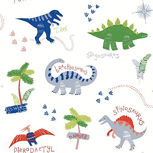 Arthouse, Arthouse Dino Doodles Multi Wallpaper 667500, Multi-Colour
