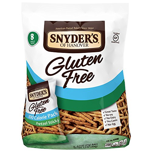 Snyder's of Hanover Gluten Free Pretzel Sticks, 100 Calorie Multipack, 8 Count