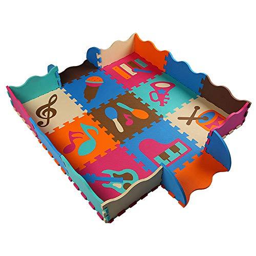 Jenify Puzzle Jouer Tapis Tapis bébé Doux EVA Mousse Infantile Rampant Pad Mousse Molle Tapis de Sol avec des Jouets de clôture pour Les Enfants,Music