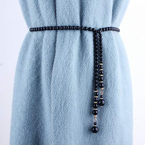 Taille ketting, trui Pearl taille keten Metal Chain Decoratie Belt Women's Thin Korean Simple Rhinestone ingelegd Lace Belt
