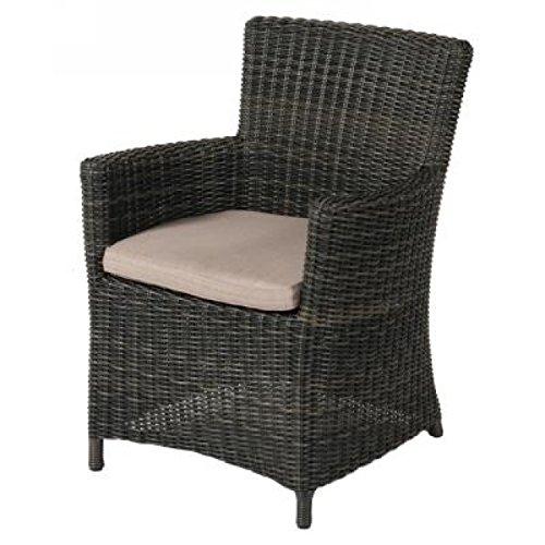 Semarang gevlochten stoel, koffie zwart ovaal