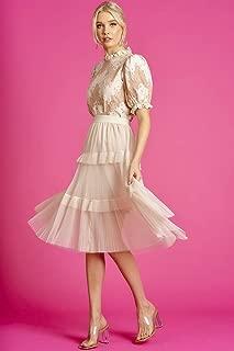 Valleygirl MESH Ruffle Tiered Skirt (325589)