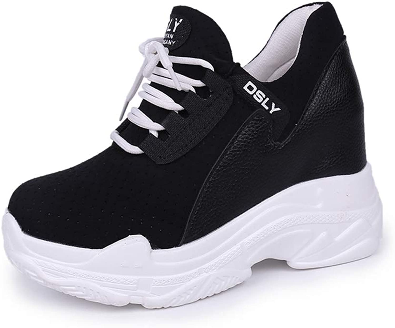 NOMIMAS Wedge Sneakers Women High Platform Breathable Mesh Air Height Increasing Casual shoes Ladies White Trainers