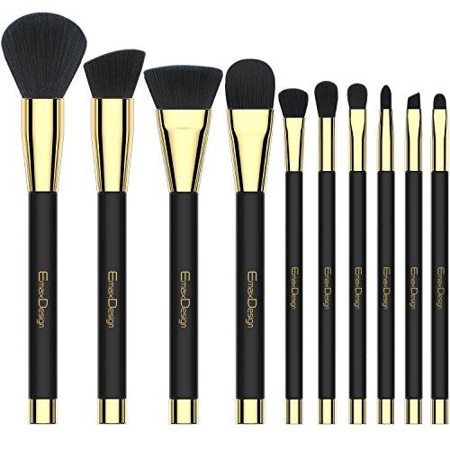 Set di pennelli da trucco pennelli trucco 10 pezzi professionale fondazione Blending Contour Eyeshadow Brow blush lip Eye Face Liquid Powder Cream Cosmetics brushes Tool kit