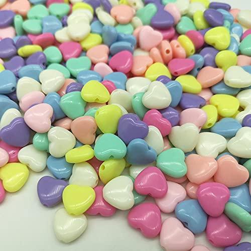 Bolitas Para Hacer Pulseras 10Mm Acrílico Amor Beads Star Beads Macaron Auda Color Diy Material Accesorios De Cuentas-Mezclar El Amor Del Color_100 / Paquete