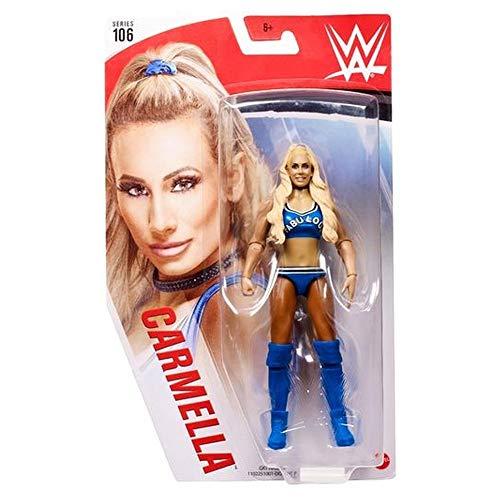 WWE GKT14 - Carmella bewegliche WWE-Actionfigur (15 cm) im Wrestling-Look