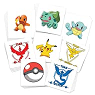 Pokemon Party Temporary Tattoos (30-Pack) | Skin Safe | Made in the USA | Removable